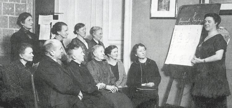 Abshkurs in der Schwerhörigen-Selbsthilfe um 1908