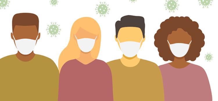 Ein Mund-Nasenschutz erschwert die Kommunikation von hörgeschädigten Menschen